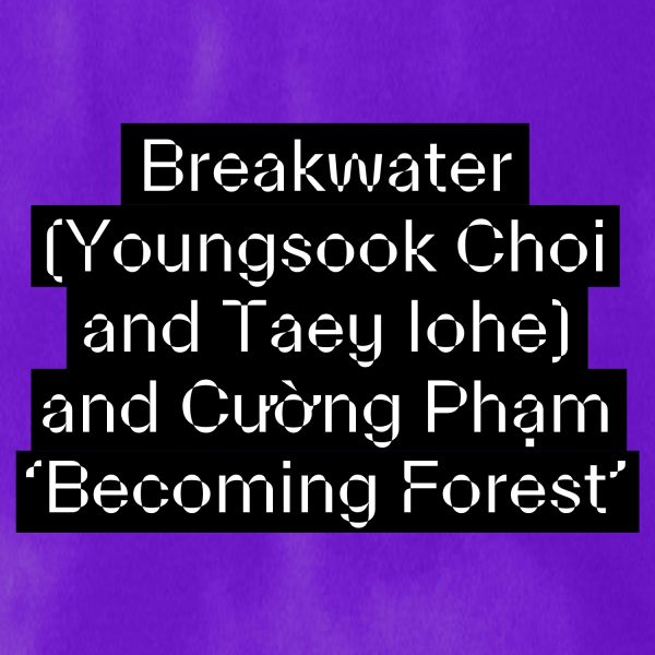 Breakwater (Youngsook Choi and Taey Iohe) and Cường Phạm: Becoming Forest